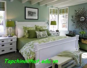 Nới rộng không gian phòng ngủ bằng màu sắc