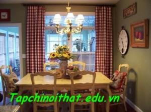 Phòng ăn thanh lịch mang phong cách đồng quê