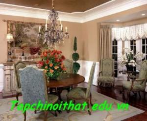 Không gian rực rỡ sắc màu nhờ sự kết hợp đa dạng từ trang trí đến nội thất.