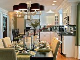 Nếu diện tích hẹp không tránh được bố trí như vậy thì cũng đảm bảo cửa đóng khi bếp nấu.