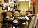 Màu vàng trong phòng ăn kích thích những món ăn
