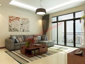 Màu xám hiện đại và sang trọng của sofa có thể kết hợp với sắc màu của các vật dụng trang trí xung quanh tạo nét đẹp riêng cho phòng khách.