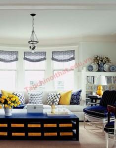 Phối hợp màu sắc trong phòng khách lúc giao mùa