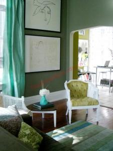 Cách phối màu phòng khách ấn tượng