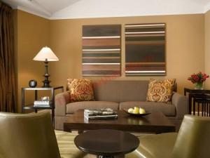 Màu sắc trung tính làm nền hoàn hảo cho phòng khách