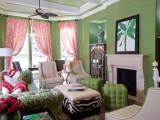 Phòng khách đầy vẻ lãng mạn