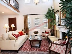 Phòng khách với màu sắc truyền thống