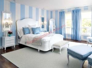 Nhờ bộ chăn ga màu tím nhạt, phòng ngủ toát lên nét đằm thắm, dịu dàng