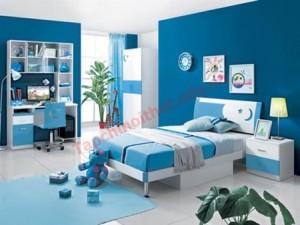 Phòng trẻ em với những gam màu khỏe khoắn