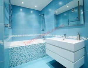 Sắc màu phá cách cho phòng tắm thêm đẹp