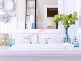 Sắc trắng sang trọng cho phòng tắm thêm mát dịu