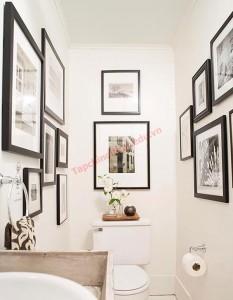 Ý tưởng mới lạ mang lại phòng tranh đặc biệt trong phòng tắm