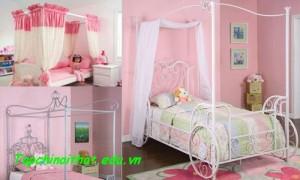Những mẫu giường ngộ nghĩnh cho bé gái