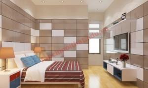Phòng ngủ với những gam màu tương phản cá tính