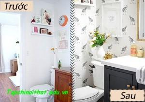 Lột áo cũ xuất sắc cho phòng tắm nhỏ