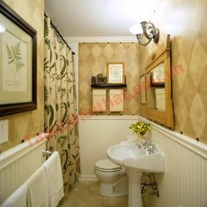 Mặt tường cũng có thể quét ve các màu nhạt khác ấm áp như màu sữa, màu vàng ngà hoặc màu phớt hồng