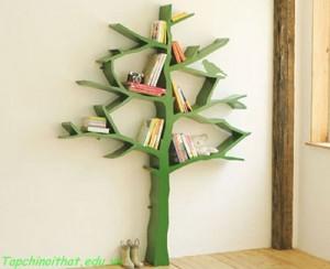 Giá sách hình cây cho phòng trẻ