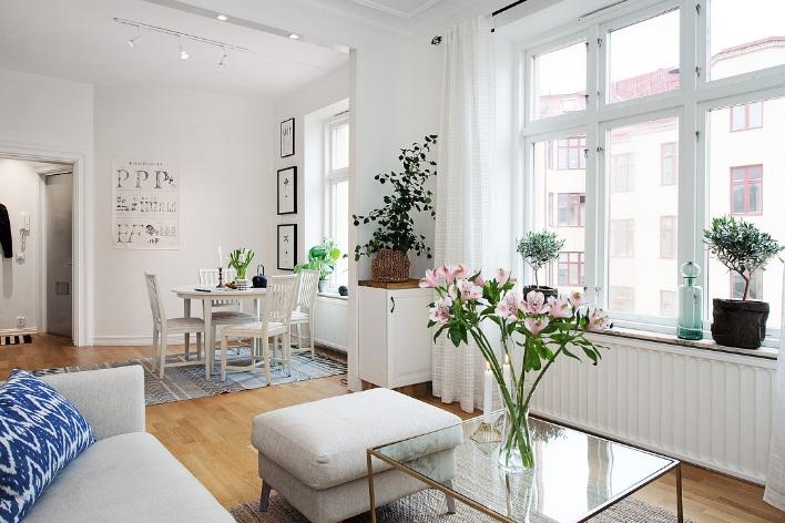 Thiết kế căn hộ đẹp 42m2 mang phong cách Scandinavia